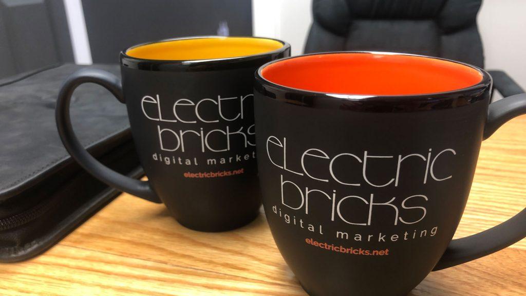 Electric Bricks coffee mugs